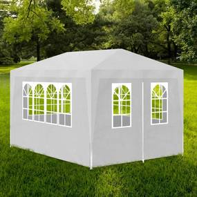 90334 vidaXL Tenda para festas 3x4 m branco
