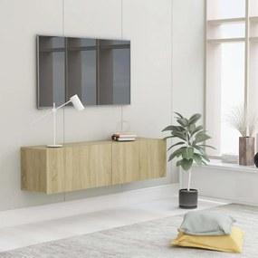 Móvel de TV 120x30x30 cm contraplacado carvalho sonoma