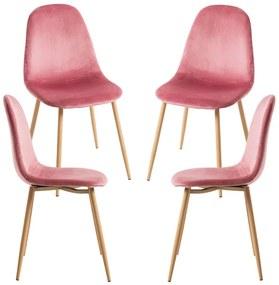 Pack 4 Cadeiras Teok Veludo