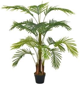 280193 vidaXL Palmeira artificial com vaso 120 cm verde