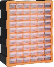 Caixa organizadora com 60 gavetas 38x16x47,5 cm