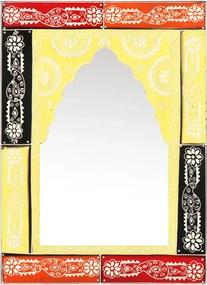 Espelho pintado à mão 40x55 cm madeira de mangueira maciça