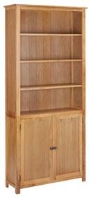 289178 vidaXL Estante com 2 portas 90x30x200 cm madeira de carvalho maciça