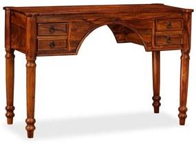 245161 vidaXL Secretária em madeira de sheesham maciça 115x50x76 cm