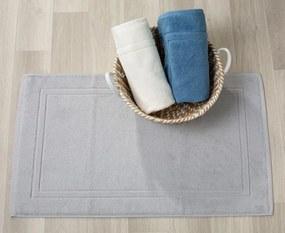 Tapetes de banho 100% algodão em cinza pérola qualidade premium 1.000 gr./m2: Cinzento 1 tapete banho 100% algodão penteado 50x80 cm premium 1.000 gr./m2 mesma cor