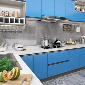 Autocolante para móveis 500x90 cm PVC azul-ciano
