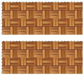 271792 vidaXL Ladrilho-pavimento madeira, 30 x 30 cm acácia, conjunto de 20