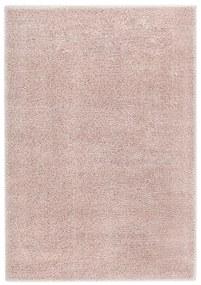 283100 vidaXL Tapete de divisão shaggy 140x200 cm rosa velho