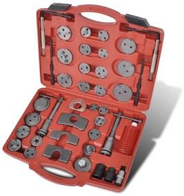 210271 vidaXL Kit de ferramentas pistão pinça do travão, 40 peças