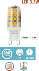 Crislight G9 LED 3.5W 300LM Branco Neutro