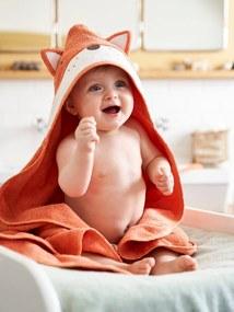 Capa de banho, Raposa laranja medio liso com motivo