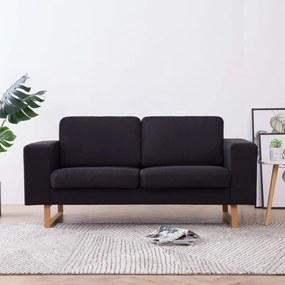 Sofá de 2 lugares em tecido preto