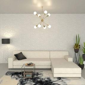 246625 vidaXL Painéis de parede 3D 12 pcs 0,8x0,625 m 6m²