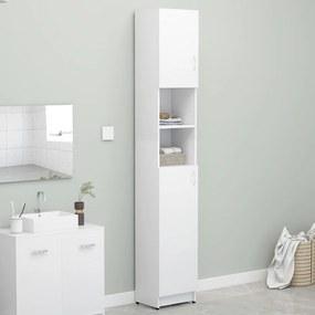 802876 vidaXL Armário de casa de banho 32x25,5x190 cm contraplacado branco