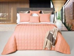 Colcha Bouti 100% algodão - Colcha decorativa ligeira para verão: Coral Colcha Bouti 200x260 cm + 1 capa almofada 45x60 cm