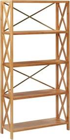 Estante com 5 prateleiras 80x30x163,5 cm madeira carvalho maciça