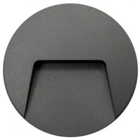 Aplique LED Muro Saliente Redondo 3W IP65 - Cinza