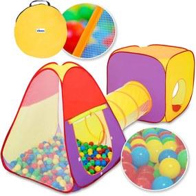 Tenda com  bolinhas KIDUKU® em 3 partes, barraca de bebé + túnel de rastreamento + 200 bolas