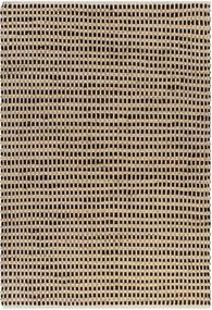Tapete de juta tecido à mão 120x180 cm natural e preto