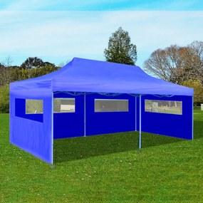 41583 vidaXL Tenda pop-up dobrável 3 x 6 m azul