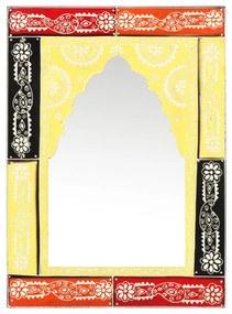 286154 vidaXL Espelho pintado à mão 40x55 cm madeira de mangueira maciça