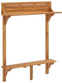 310253 vidaXL Mesa de bar p/ varanda 90x37x122,5 cm madeira de acácia maciça