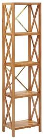 325577 vidaXL Estante com 5 prateleiras 40x30x163,5 cm madeira carvalho maciça