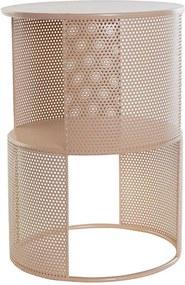 Mesa de Apoio DKD Home Decor Metal Madeira MDF (35 x 35 x 50 cm)
