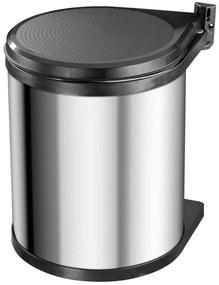 415439 Hailo Caixote lixo armário Compact-Box M 15 L aço inoxidável 3555-101