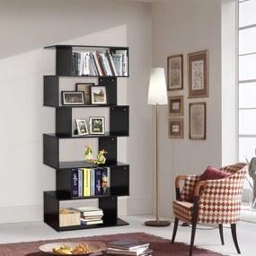 Homcom Estante com 6 Prateleiras para Livros - Cor: Preto – Material: Madeira - Dimensões 80 x 25 x 192 cm