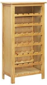 247464 vidaXL Garrafeira 56x32x110 cm madeira de carvalho maciça
