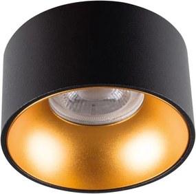 Kanlux 27575 - Iluminação embutida MINI RITI 1xGU10/25W/230V preta/dourada