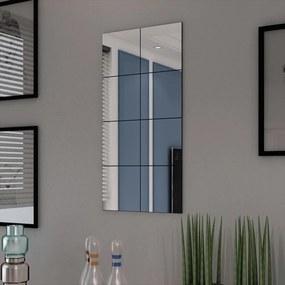 Espelho de azulejos de vidro sem moldura 8 pcs 20,5 cm