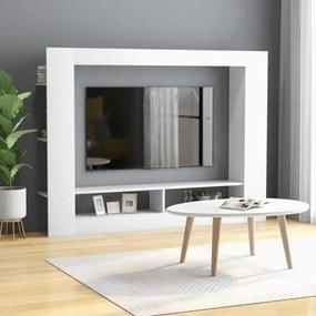 Móvel de TV 152x22x113 cm contraplacado branco