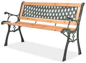 40262 vidaXL Banco de jardim 122 cm madeira