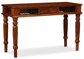 245156 vidaXL Secretária em madeira de sheesham maciça 120x50x76 cm