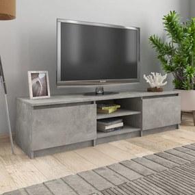800652 vidaXL Móvel de TV 140x40x35,5 cm contraplacado cinzento concreto
