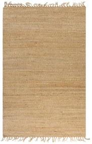 133217 vidaXL Tapete de juta tecido à mão 120x180 cm natural