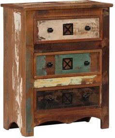 Armário de gavetas 60x30x75 cm madeira recuperada maciça