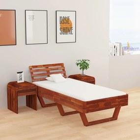 Estrutura de cama 100x200 cm madeira de acácia maciça