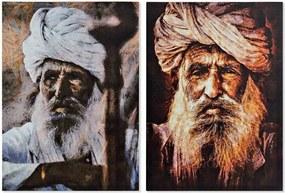 Pintura DKD Home Decor Índio 50 x 1.8 x 70 cm (2 pcs)