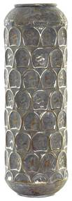 Vaso DKD Home Decor Cinzento Metal Oriental (19 x 19 x 47 cm)