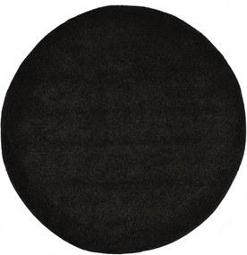 Tapete de divisão shaggy 120 cm preto