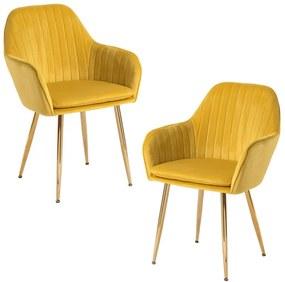 Pack 2 Cadeiras Chic Golden