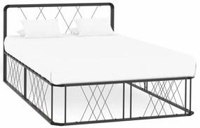 284596 vidaXL Estrutura de cama 120x200 cm metal cinzento