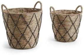 Kave Home - Conjunto Mast de 2 cestas preto