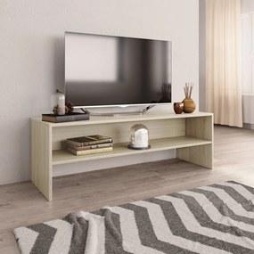 800039 vidaXL Móvel de TV 120x40x40 cm contraplacado carvalho sonoma