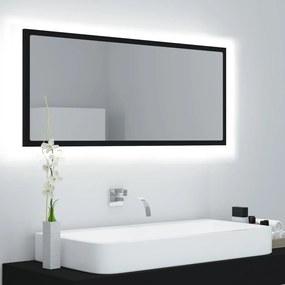 804941 vidaXL Espelho de casa de banho LED 100x8,5x37 cm contraplacado preto