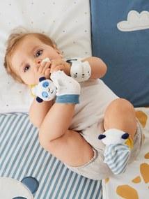 Rocas mãos e pés, Panda azul medio liso com motivo