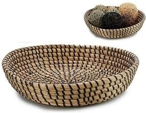 Centro de mesa Entrançado Preto (30 x 7,5 x 30 cm)